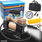 12V Portable Heavy Duty Air Compressor Car Tyre Auto Tire Inflator Electric Pump
