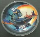 Peggy Karr Glass Witch 11 Halloween Bowl NEW Made in USA 2010 Signed