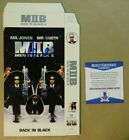Signed WILL SMITH Autographed MEN IN BLACK II VHS COVER BECKETT BAS COA