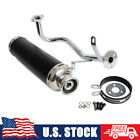 Complete Exhaust System Muffler Pipe For GY6 50cc 4 Stroke Moped 139QMB 1P39QMB