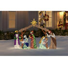 OUTDOOR NATIVITY SCENE Christmas Yard Decoration Warm White LED Lights