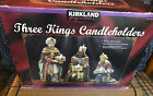 Kirkland Signature Three Kings Candle Holders Christmas Nativity
