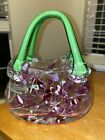 Gorgeous Hand Glass Purse Nice bright colors floral design