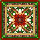 Quilt Kit Christmas Star with Layer Cake Squares Tonals and Christmas Fabric