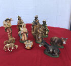 VINTAGE CHRISTMAS NATIVITY Lot Of 11 Figures MADE IN ITALY depose fontanini like