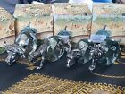 Makoulpa African Set of 4 Hand Blown Glass  Pewter Animal Napkin Rings With Box