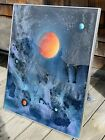 Dave Archer Signed Original Painting A Cosmic Detail 1997 Glass Framed 24x30