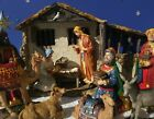 THREE KINGS GIFTS REAL LIFE NATIVITY SERIES LOT  LARGE  W LIGHTED STABLE