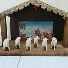 VTG Composition Nativity Christmas Standing Lamb Sheep Figure Figurine Italy 6