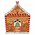 Disney Store Mickey and Minnie Gingerbread House Cookie Jar Christmas