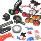 LED Turn signal kit with 4way  horn for ATV scooter moped 4x4 fourwheeler quad