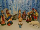 VINTAGE CHRISTMAS NATIVITY PAPER MACHE Made In Italy large size
