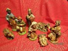 Vintage Italian Nativity Set Christmas Manger Scene 8 Figures Made In Italy