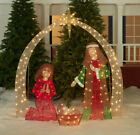 OUTDOOR JESUS NATIVITY SCENE Christmas Yard Decoration White LED Lights