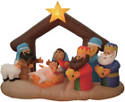 BZB Goods 6 Foot Christmas Inflatable Nativity Scene Three Kings Party Decor