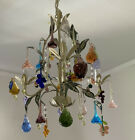 Chandelier Fruit Flowers Murano Authentic