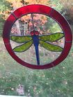 Stained Glass DRAGONFLY Sun Catchter Round 9 3 4