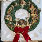 Thomas Kinkade Decorative Lighted Nativity Wreath 2006 RARE