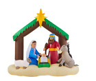 Inflatable Lighted Christmas Nativity Scene Self Inflating Led 65 Ft Decor