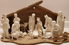Rare White Porcelain Goebel 16 piece Nativity Set with Stable Excellent Cond
