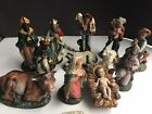 Vintage Paper Mache Made In Italy 13 Piece Nativity Set