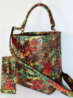 BRAHMIN One of a Kind AMMOLITE ABSTRACT JEWEL TONE and GOLD AMELIA  WALLET NWT