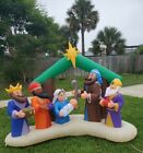 RARE Pre Owned Christmas Inflatable Nativity Scene with 3 Wisemen 8 wide