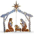 72 Light Up LED Nativity Scene Christmas Outdoor Decoration Lighted Yard Lights