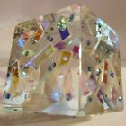 Crystal  Dichroic Glass Cube Paperweight by LAPSYS Studio Decorative Art