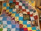 Rag Quilt with Many Colors and HorsesWarm and Soft