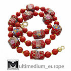 Vintage Murano Glas Kette Halskette Rot glass necklace millefiori red