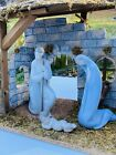 Lladro Nativity Set Including Mary  Joseph Baby Jesus and Stable