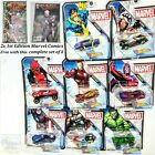 Hot Wheels Marvel Comics Character Cars FYV26 Complete Set of 8 164 Scale 2019