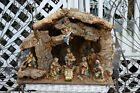 VTG Italy Christmas X Large Manger Stable Compsition Nativity Wooden Jesus