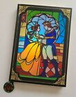 Disney Parks Beauty  The Beast Storybook Journal Diary Stained Glass Book NEW
