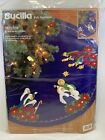 Bucilla Felt Applique Christmas Nativity Scene Tree Skirt 43 inch Round 83419
