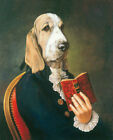 ZWPT1479 100 handmade painted oil painting reading book dog art on Canvas
