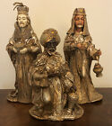Kurt Adler Japan Three Kings Wisemen Paper Mache Nativity Pieces Gold Florentine