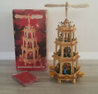 German Nativity CHRISTMAS PYRAMID 20 Tall 4 Tier Excellent Condition  Detail