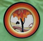 Clarice Cliff Bizarre Newport Pottery Fantasque Hand Painted Plate Trees House