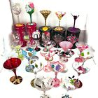 Lolita Martini Glass Wine Glass Hand Painted Lot Of 27 Glasses Lolita Collection