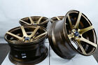 15x8 Bronze Rims Wheels 4x100 Toyota Corolla Mini Cooper Civic Prelude Accord
