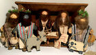 Vintage Lizzie High Nativity Set 9 Pc Christmas Pageant Stable Jesus Mary Joseph