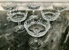 Waterford Lismore Crystal Champagne Sherbet Dessert Flawless Beautiful 6 Pcs