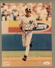 DEREK JETER SIGNED 8 X 10 AUTOGRAPHED YANKEES PHOTO JSA COA