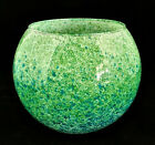 Hand Made Glass Blue Green Speckled Bowl Unique