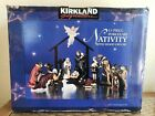 Kirkland Signature 13 Piece Porcelain Nativity Set HandPainted Wood Creche 75177