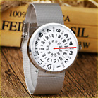 Turntable Watch Men Sports Cute Creative Stainless Fashion Uncommon Unique Women