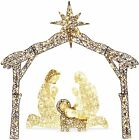 6FT Lighted Christmas Holy Family Nativity Scene Outdoor Decoration Yard Lights