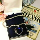Magnificent Heart of the Ocean Roses Titanic Replica Crystal Necklace with Box